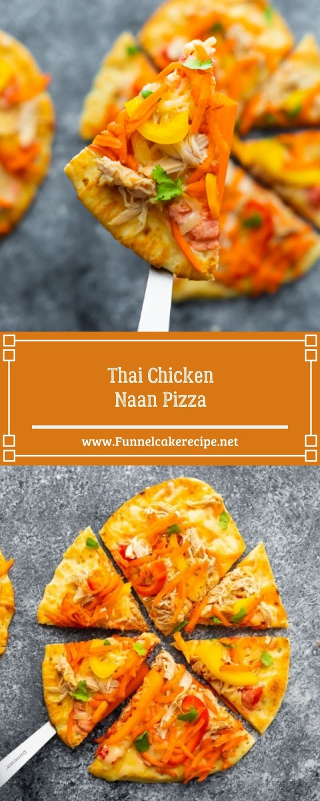 Thai Chicken Naan Pizza