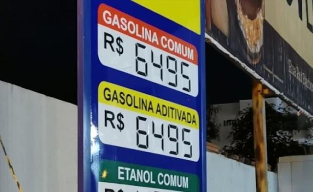 Gasolina custa quase R$ 6,50 em alguns postos de Guanambi