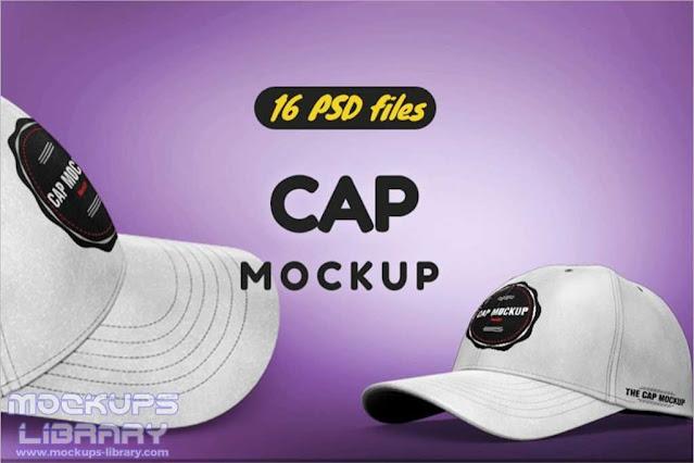 Snapback Cap PSD Mockup