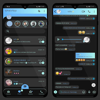 Gradient Dark  Theme For YOWhatsApp & MC WhatsApp By Ethel