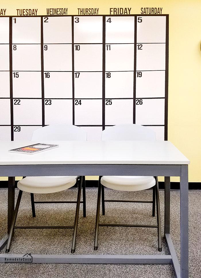 office organization & decor with a wall calendar