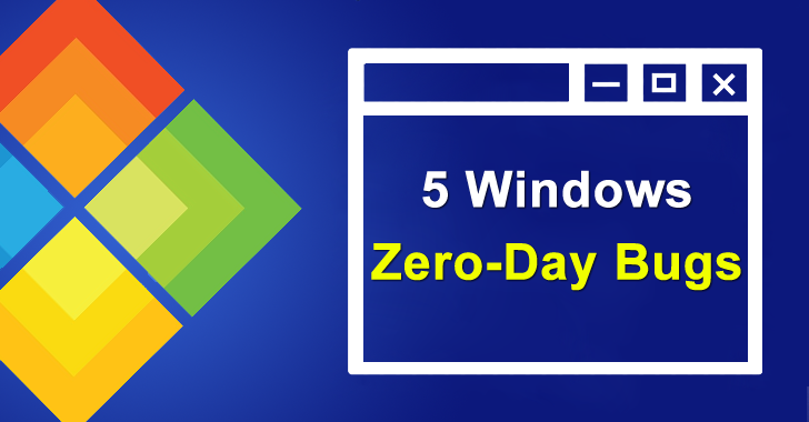 Researchers Disclosed 5 Windows Zero-Day Bugs That Allow Hackers to Escalate System Privileges