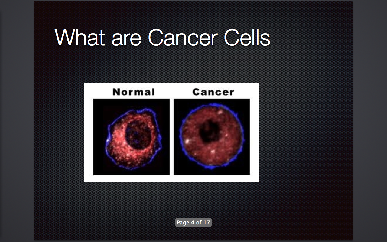 S1 05 Health Science Blog Cancer Cell Presentation