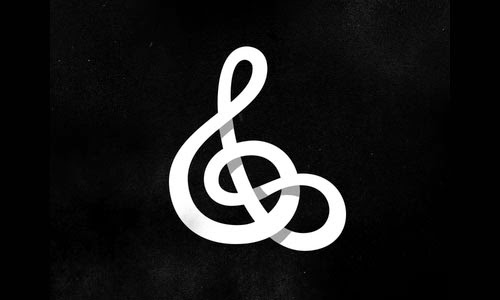 Overlapping technique Infinite Treble Clef