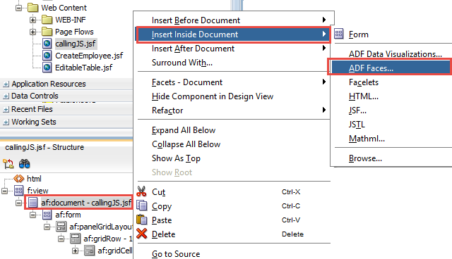 Oracle Technical: Invoking Javascript in ADF Page