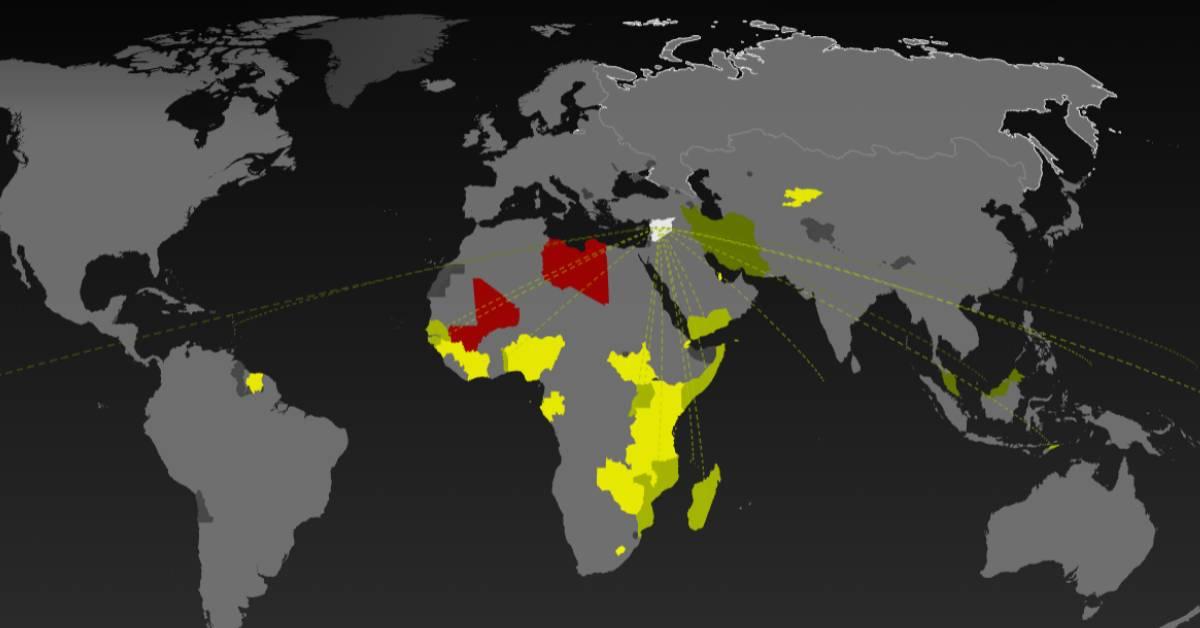 معرفة عدد الدول التي يمكنك الدخول إليها