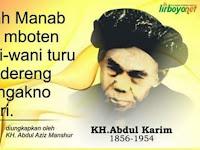 Kesan Almaghfurlah KH. Abdul Aziz Mansyur Tentang Kakeknya KH. Abdul Karim