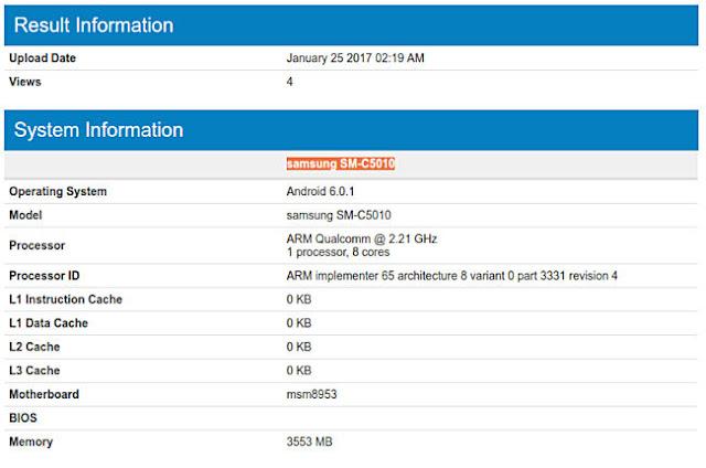 Samsung Galaxy C5 Pro Muncul di Geekbench, Dengan Chipset Snapdragon 625