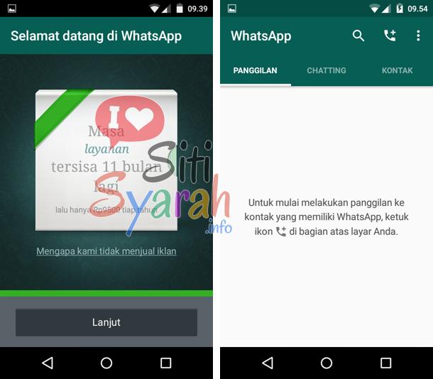 cara registrasi whatsapp android