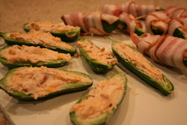 Big Green Egg:  Jalapeño Poppers Two Ways with bacon and sweet BBQ Sauce | The Lowcountry Lady