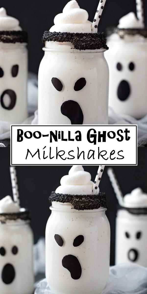 Boo-nilla Ghost Milkshakes Recipe #halloweenrecipes