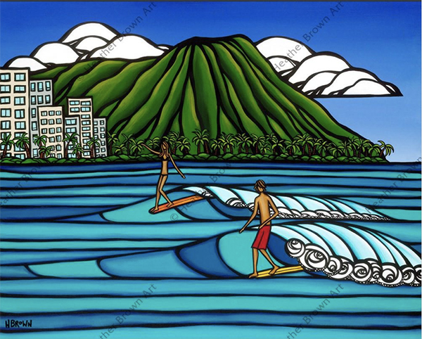 heather brown surf art Waikiki surf