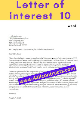 letter of interest simple template word