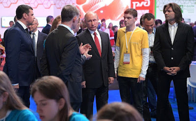 Vladimir Putin visited the ProyeKTOriya national professional orientation forum.