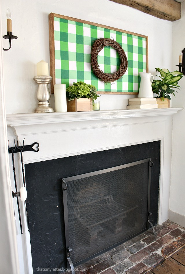 master bedroom spring mantel