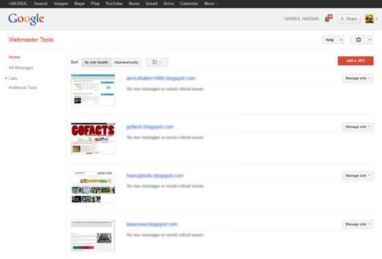 Cara Hantar Sitemaps Menerusi Google Webmaster Tools