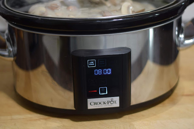 Place the lid on the crockpot and set the timer for 8 hours on LOW.