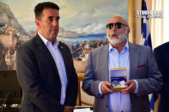 Συνάντηση Κωστούρου - Κουρουμπλή στο Δημαρχείο Ναυπλίου