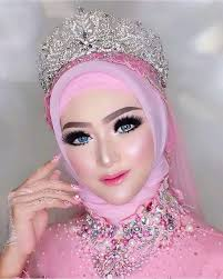 rias pengantin hijab untuk hidung pesek