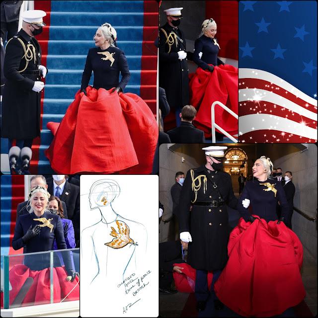 Inauguration of President Joe Biden – Lady Gaga in Schiaparelli dress by Daniel Roseberry -RUNWAY MAGAZINE