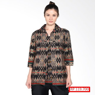 desain baju batik modern berpasangan
