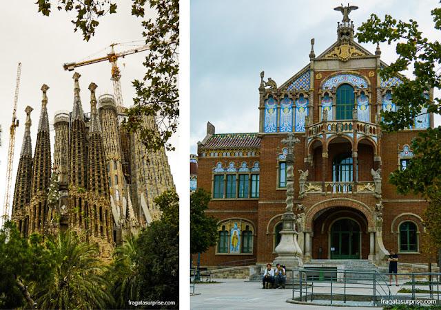 Basílica da Sagrada Família e Hospital Sant Pau, obras modernistas em Barcelona