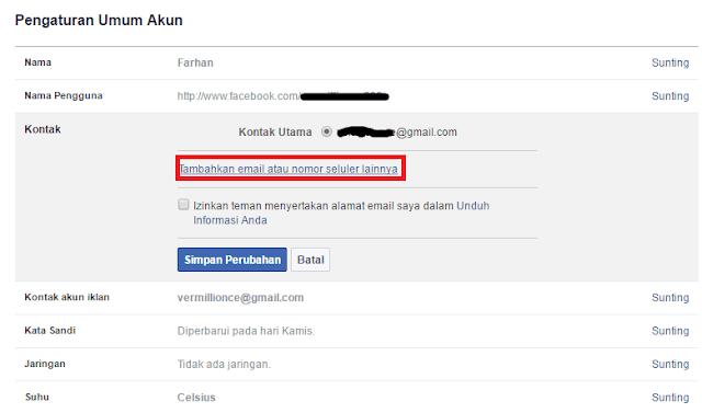 Cara Mudah Mengganti Email Facebook