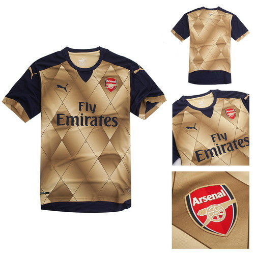 863e7bdec08ad camisetas de futbol Arsenal 2016 segunda equipación. El nuevo arsenal 15-16  Tercera camiseta tiene un diseño llamativo combinando el principal color ...