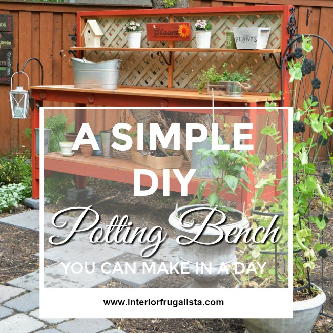 A Simple DIY Potting Bench Graphic