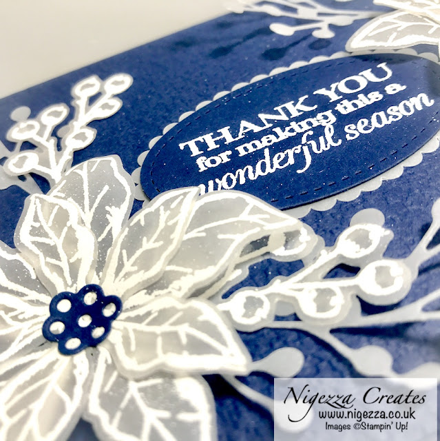 Nigezza Creates with Stampin' Up! Poinsettia Petals for Kylie's International Blog Highlight August 2020 - Thank You