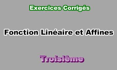 Exercices Corrigés Sur Les Fonctions Linéaires et Affines 3eme en PDF