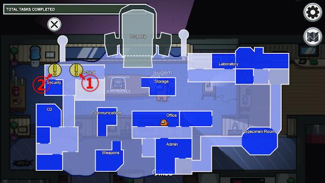Electrical(電気室)のタスク一覧マップ説明画像