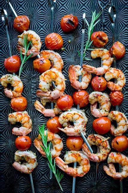 easy and quick grilled shrimp skewer