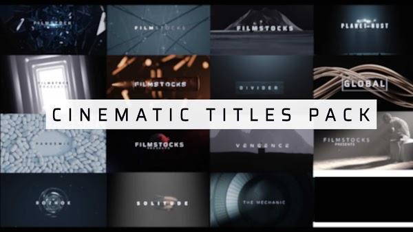 Filmstocks Cinematic Titles Pack   Filmora Effects