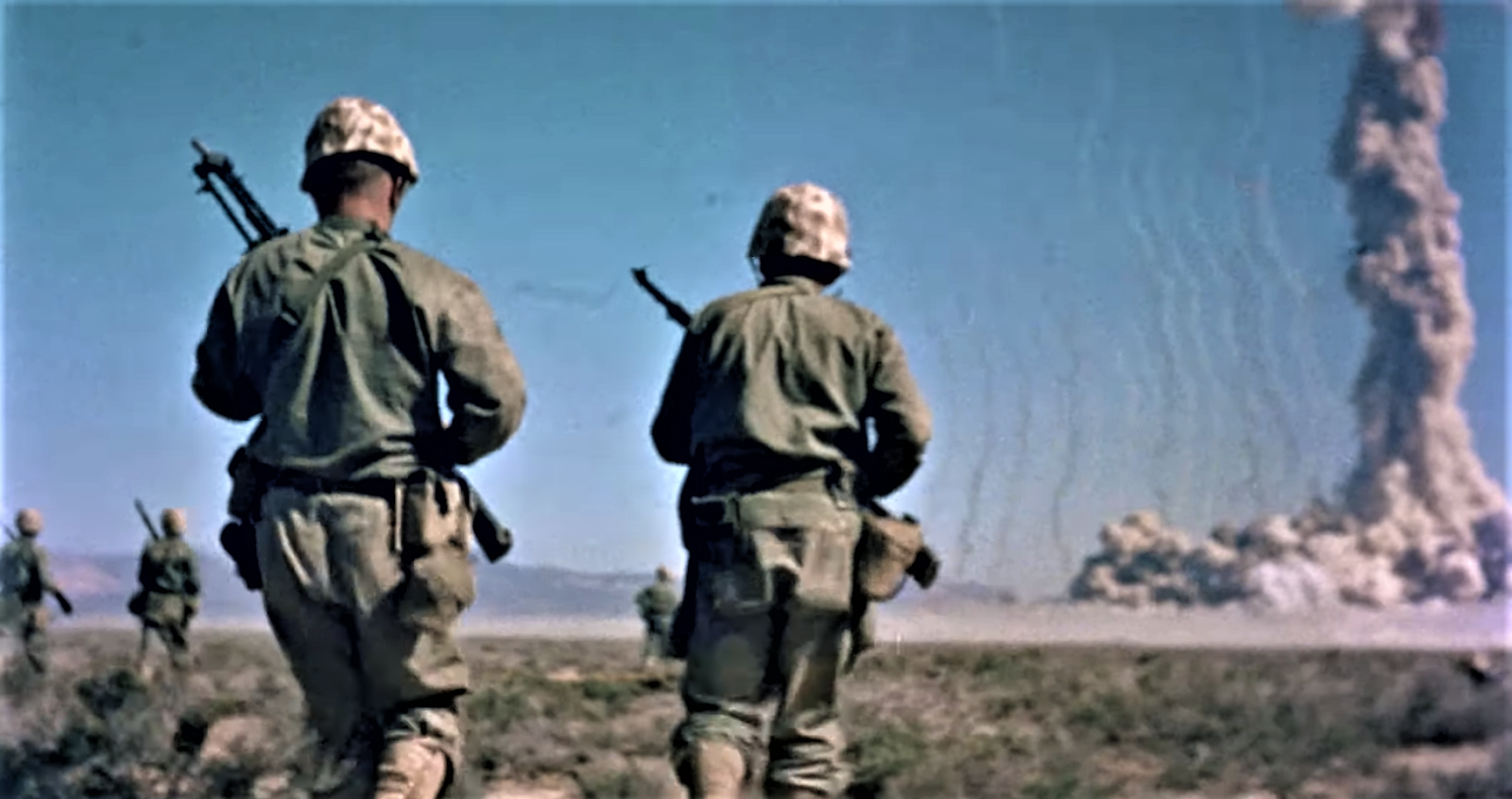 Where did they test the atomic bomb in Nevada? soldiers