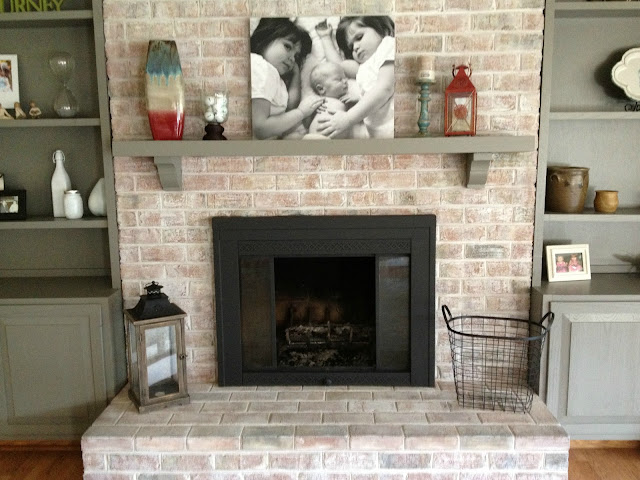 How to Paint a Brick Fireplace - Infarrantly Creative