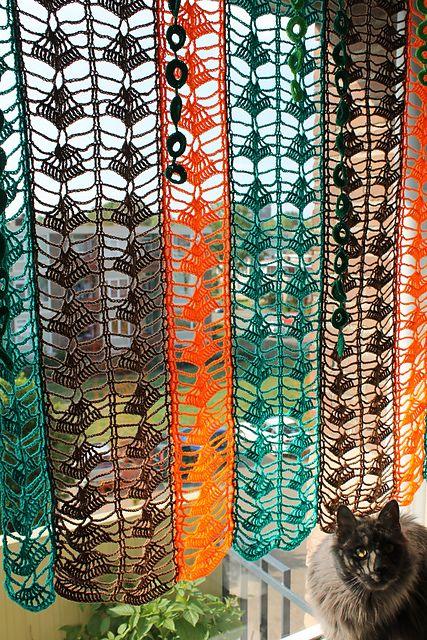 MES FAVORIS TRICOT-CROCHET: Modèle gratuit : Un rideau au crochet