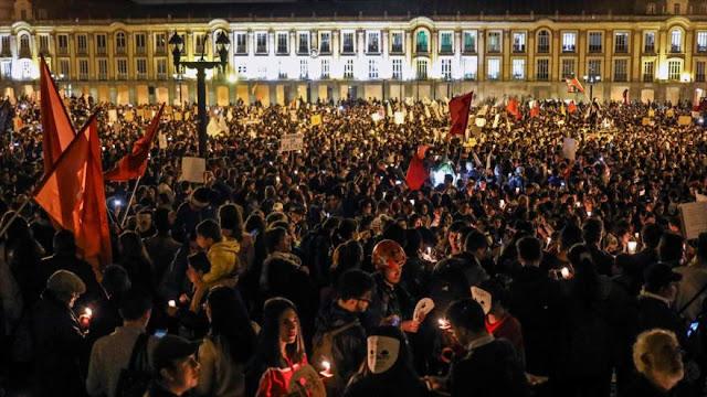 Colombianos protestan por los asesinatos de líderes sociales