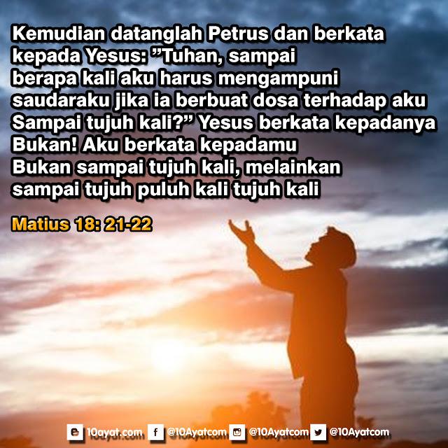 Matius 18: 21-22