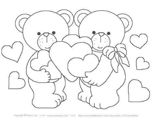 Baú Da Web: Desenhos De Ursinhos Apaixonados
