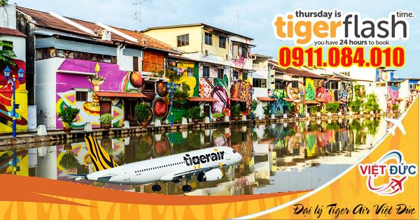 Đặt vé khuyến mãi Tiger Flash ưu đãi bay từ Singapore
