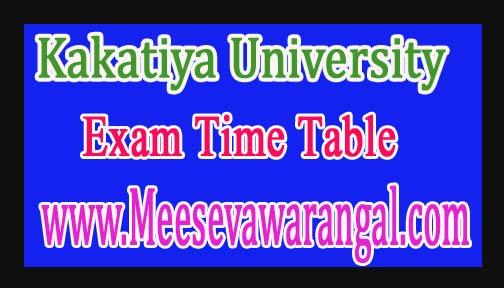 Kakatiya University B.Tech 1st Year Supply Dec 2016 Exam Time Table
