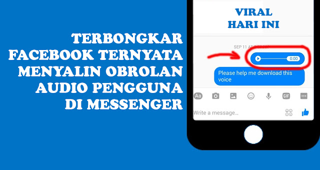 Facebook Menyalin Obrolan Audio Messenger