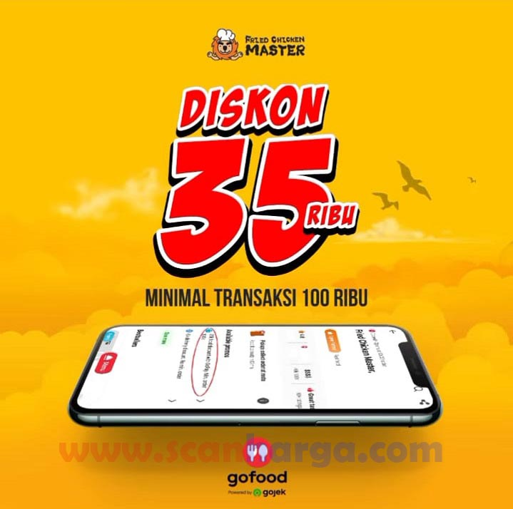 Promo Fried Chicken Master - Ada Diskon dari GOFOOD hingga Rp 35.000