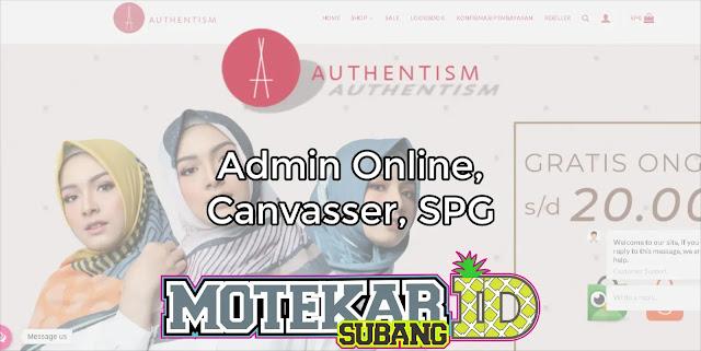 Info Loker Authentism.id Online Shop Bandung 2019
