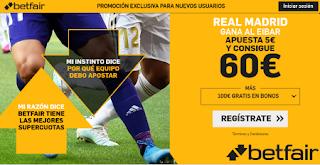betfair supercuota liga Real Madrid gana Eibar 9 noviembre 2019