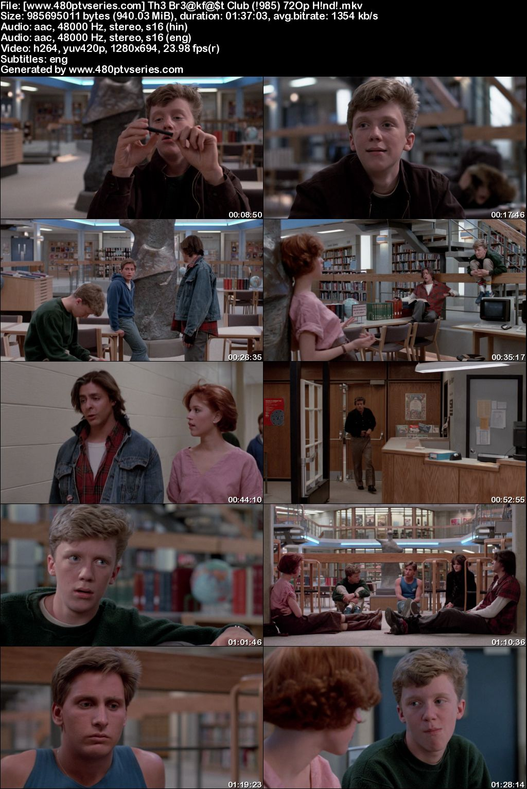 Watch Online Free The Breakfast Club (1985) Full Hindi Dual Audio Movie Download 480p 720p Bluray