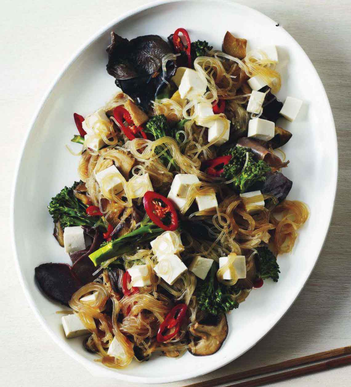 Easy Food Recipes And Cooking Bean Thread Noodles With Tofu And