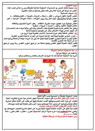 مذكرات الحساسية و الامصال واللقاحات مع بطاقات عمل الافواج