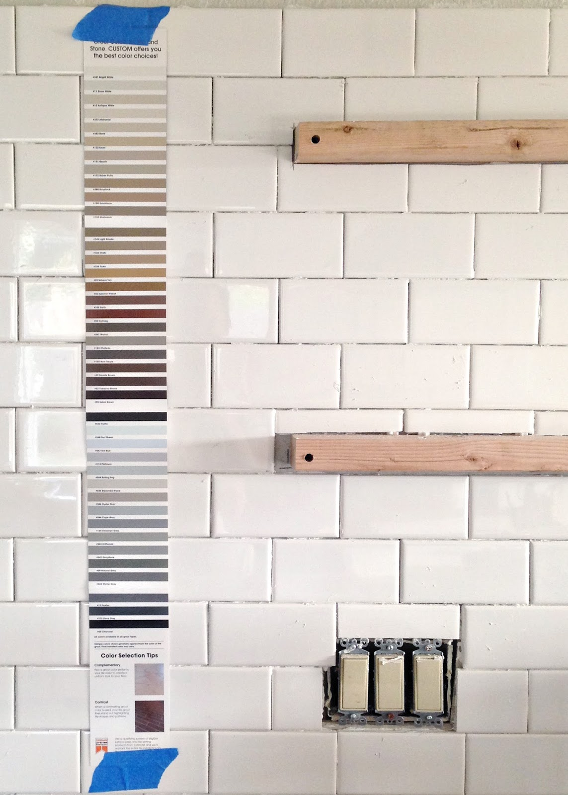 Fresh Subway tile installation + tips on grouting with Fusion Pro  QP78